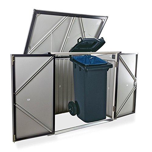 Duramax 5x 3ft Mülleimer Store–Anthrazit Grau/aus weiß - 2