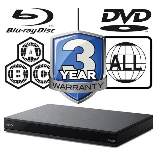 Sony ubp-x800UHD Blu-ray Player Multiregion Blu-ray & DVD. Code Free Blu-ray Player für alle Zone Wiedergabe. Mit 2m UHD HDMI führen.