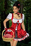 Süsses Rotkäppchen Kostüm 3-tlg