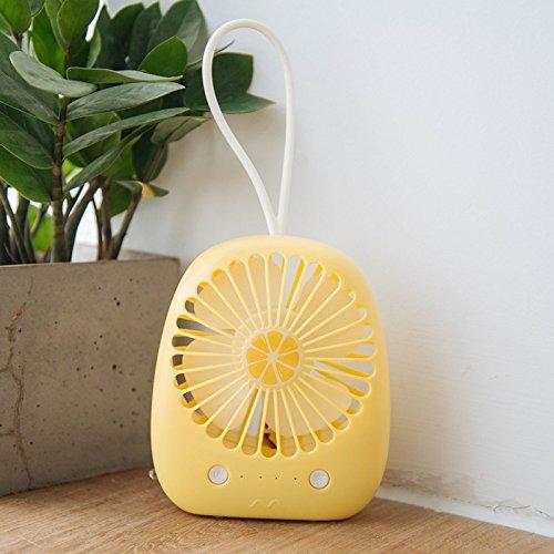 Fafesh der Wind Wiederaufladbare Batterie Mini Ventilator Ventilator, die Zitrone 3 Wind + Nacht Licht Portable Desktop USB Interface Home Office (Licht Nacht Zitrone)