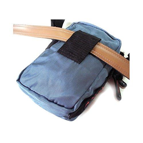 A106nuevo mini bandolera viaje Passport Bolsa Cintura Fanny Pack Negro azul