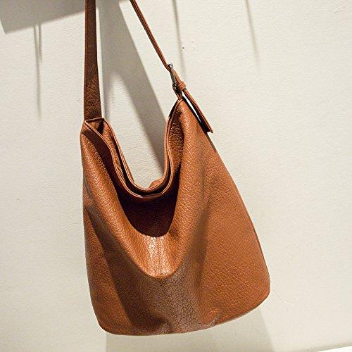 Mefly Europei E Americani Borsa Moda Fashion Semplice Borsa Per Portatile Marrone brown
