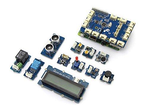 seeedstudio grovepi + Starter-Set für Raspberry Pi ()/umfassen grovepi + Führer, Sound Sensor, LichtSensor, Temperatur und Luftfeuchtigkeit, uitrasonic Ranger, Rotary Winkel Sensor etc. -