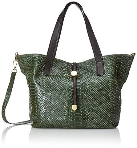 Chicca Borse, Women's Shoulder Bag, Green (Verde), 30 cm (30 cm)