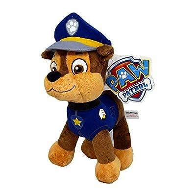 Patrulla canina (PAW PATROL) - Peluche personaje Chase, Pastor Aleman Policia (26cm de pie) Calidad super soft - Color Azul - por PLAY BY PLAY