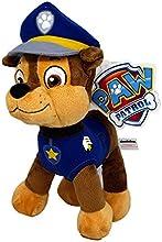 Patrulla canina (PAW PATROL) - Peluche personaje Chase, Pastor Aleman Policia (26cm de pie) Calidad super soft - Color Azul -