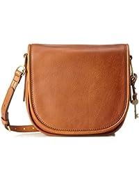 987f77464 Fossil Rumi, Women's Cross-Body Bag, Braun (Saddle), 7.32x23