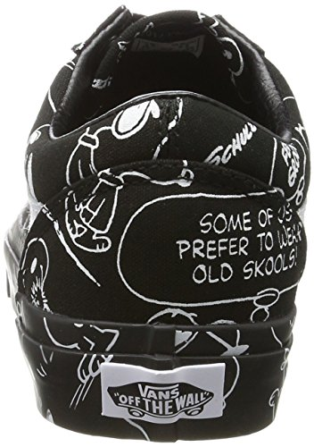 Vans Peanuts Old Skool, Baskets Mixte Adulte Noir (Peanuts/ Snoopy/black)