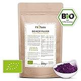 Fit4Taste Bio Acai-Pulver | Superfood | Bio-Qualität | Vegan | Aus Acai-Beeren 250 g