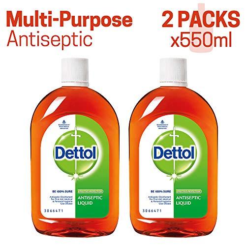 Dettol Antiseptic Liquid - 550 ml (Pack of 2)