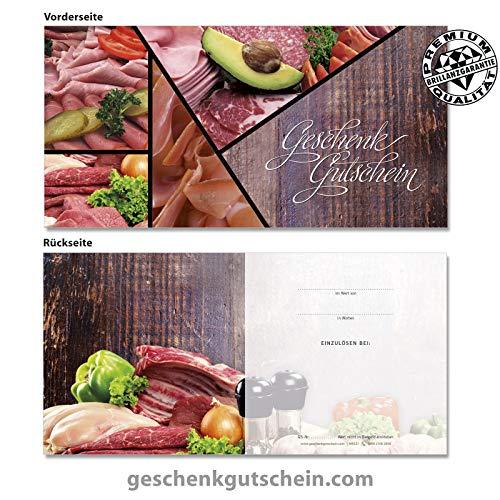 """10 Stk. Gutscheinkarten """"DIN lang"""" für Metzger, Fleischer, Feinkost M9237, LIEFERZEIT 2 bis 4 Werktage !"""