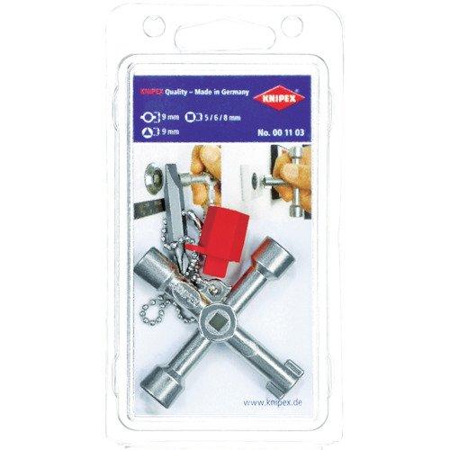 KNIPEX 00 11 03 Schaltschrank-Schlüssel für gängige Schränke und Absperrsysteme 76 mm - Gas-wasser-heizung-teile