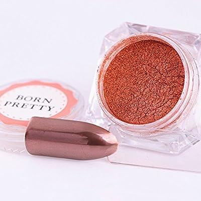 Born Pretty 1 Box Rose Gold Mirror Powder Manicure Nail Art Glitter Chrome Pigment