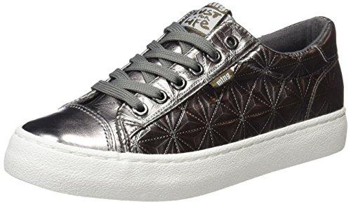 MTNG Attitude Damen Rolling Sneakers Silber Triangle Metal Plata Vieja, 37 EU