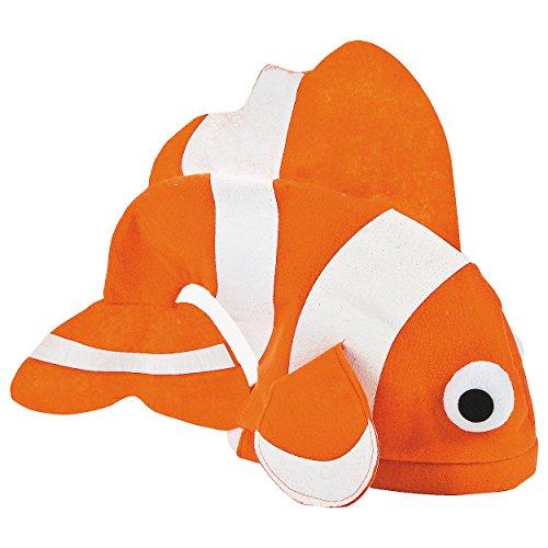Filz Tropische Fische Hat findet Nemo Clown orange weiß Kostüm (Erwachsene Kostüme Nemo)