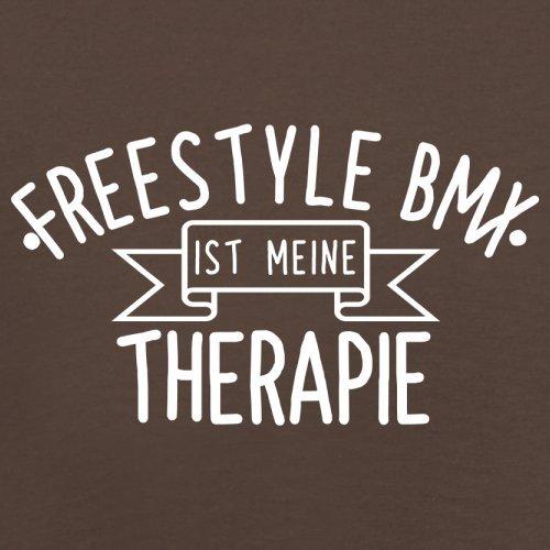 Freestyle BMX ist meine Therapie - Herren T-Shirt - 13 Farben Schokobraun