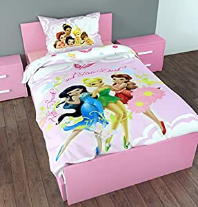 parure de lit housse de couette fairies disney f e clochette enfant fille cuisine. Black Bedroom Furniture Sets. Home Design Ideas