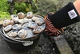 Ess-Nische Grillhandschuhe Hitzebeständig Bis 500 °C - Ofenhandschuhe Für Küche & Grill - Premium Backhandschuhe Extra Lang - 6