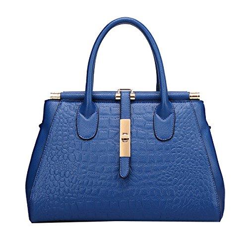 Yy.f Geprägte Tasche Krokodilhandtaschen Große Taschen Modische Handtasche Neue Taschen Modische Damen-Taschen Bunte Taschen Blue
