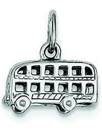 Plata esterlina del encanto del autobús de Londres - JewelryWeb