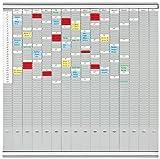 Franken PV-SET5 T-Kartentafel Office Planer (50 Schlitze) 100,8 x 100,8 cm