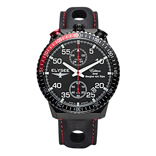 Elysee Mens Watch Graf Berghe von Trips Rally Timer I Chronograph 80522M