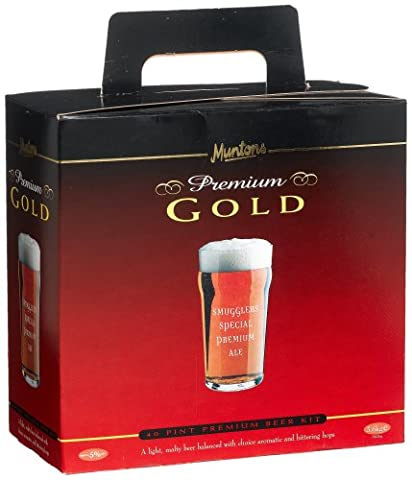 Muntons Premium Gold Smugglers Ale 40 Pint 3.6kg Home Brew Beer Kit