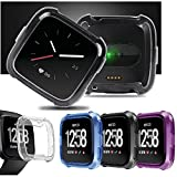 #7: Ocamo TPU Silicone Cover Case Watch Casing Guard Protector for Fitbit Versa Smart Band