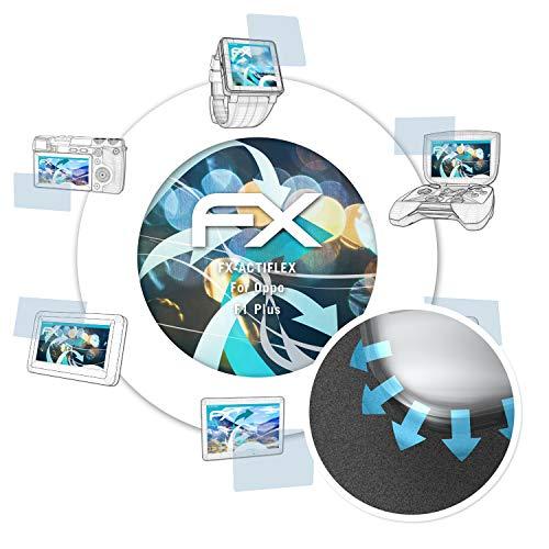 atFolix Schutzfolie passend für Oppo F1 Plus / R9 Folie, ultraklare & Flexible FX Bildschirmschutzfolie (3X)