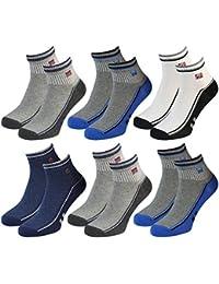 6 Paar Herren Kurz Socken Sport Socken mehrfarbig