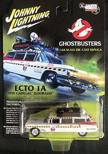Johnny Lightning - Ghostbusters\' Ecto 1A, a 1959 Cadillac Eldorado como un Coche de diecasto, Escala 1/64