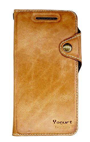 Yogurt für Huawei Google Nexus 6P Ledertasche Wallet Hülle Case Echt Leder Schutzhülle Handmade Braun