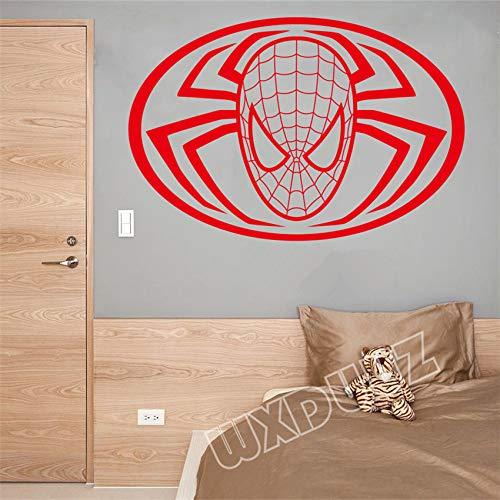 dspiel Superheld Spiderman Wohnzimmer Boy Room Movie Wall Decal Art Decor Home Decor Wand Stick schwarz 58 X 38 cm ()