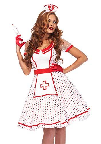 Krankenschwester Kostüm Rot Kreuz - Leg Avenue Damen Kostüm Krankenschwester Nikki M/L weiß rot