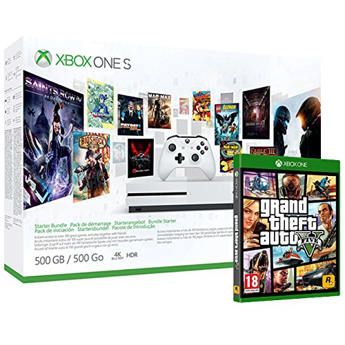 Pack Xbox One S 500Go 3M Game Pass + 3M LIVE + GTA V