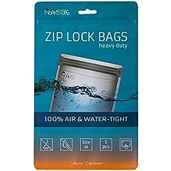 Noaks Bag M   5 exemplaires   Sac Étanche - Dry Bag - Poche Imperméable   100% Imperméable à 10 m - Étanche à l'Air - Étanche aux Odeurs