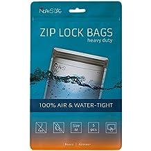 Noaks Bag | Schutzhülle, ZIP-Beutel, Dry-Bag | Größe M – 5 Stück | 100% wasserdicht, geruchsdicht & sicher | Für Urlaub, Sport & Reisen | Das Original