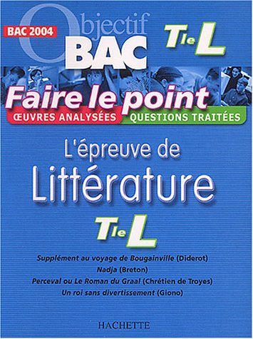 Faire le point : L'Épreuve de littérature, terminale L