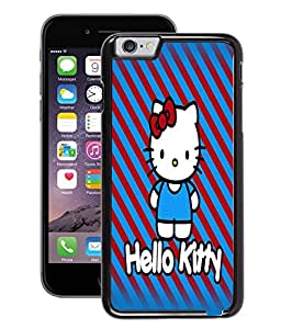 Fuson 2D Printed Back Case Cover for Apple iPhone 6 Plus 5.5 Inch Hello Kitty Blue D4543 IPHONE 6 PLUS