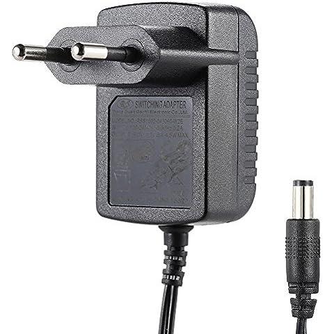 ammoon Enchufe de la EU 100-240V AC a DC 9V 0.5A Fuente de Alimentación Adaptador Convertidor del Cargador para Guitarra Pedal de Efectos y Teclado