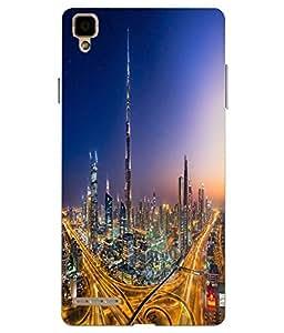 Make My Print Dubai Printed Multicolor soft Back Cover For Oppo F1 Selfie