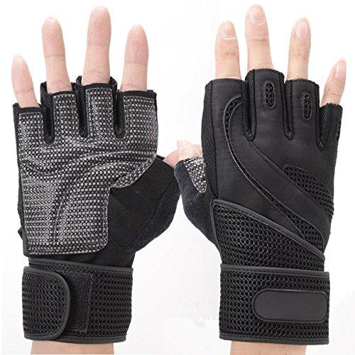 Jiayuane Gewichtheben Gym Training Sport Fitness Handschuhe Stoßfest Rutschfeste Atmungsaktive Haltbarkeit Übung Zubehör -