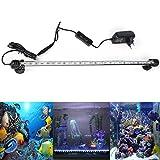 DOCEAN DOCEAN Aquarium LED Beleuchtung Leuchte Lampe 27 LEDs 5050SMD 48CM Lighting für Fisch Tank EU Stecker weißlicht & Blaulicht Wasserdicht [Energieklasse A++]