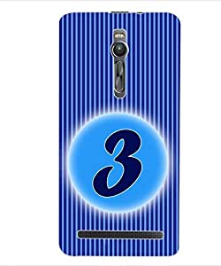 ColourCraft Numerology Number 3 Back Case Cover for ASUS ZENFONE 2 ZE551ML
