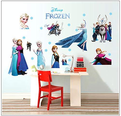 önigin (Frozen) Wandsticker Frozen Disney für Kinderzimmer Living Room Removable Prinzessin Elsa Wandtattoo Kinderzimmer Frozen Olaf ()