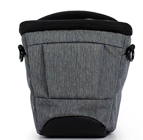 Z&HXsacchetto di spalla casuale impermeabile moda multifunzionale Fotografia borse fotocamera reflex , black Black