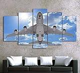 Wsxxnhh Kunstwerk Poster Leinwand Malerei 5 Stücke Hd Druckt Flugzeug...