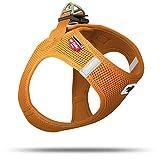 CURLI Brustgeschirr Plush Vest AIR-MESH orange für Hunde S (35 - 40 cm)