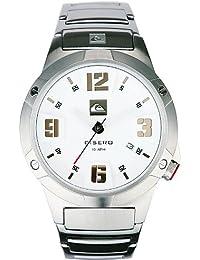 Quiksilver Qs-1 Cisero - Reloj de caballero de cuarzo, correa de acero inoxidable color plata