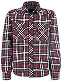 Brandit Checkshirt Langarmhemd schwarz/rot/weiß L